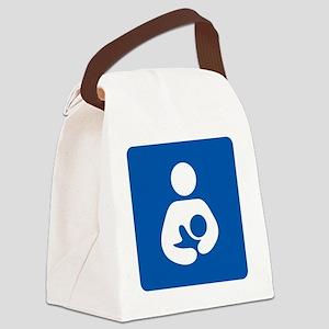 Breastfeeding Symbol [blue] Canvas Lunch Bag